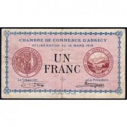 Annecy - Pirot 10-5 - 1 franc - Série 151 - 14/03/1916 - Etat : TB