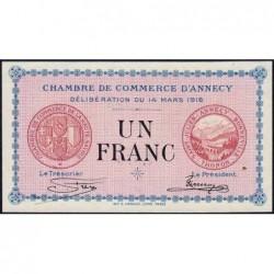 Annecy - Pirot 10-5 - 1 franc - Série 193 - 14/03/1916 - Etat : SPL+
