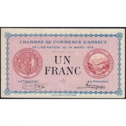Annecy - Pirot 10-5 - 1 franc - Série 193 - 14/03/1916 - Etat : SUP