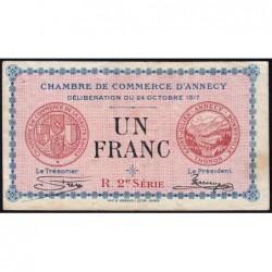 Annecy - Pirot 10-12 - 1 franc - R. 2e Série 227 - 24/10/1917 - Etat : TB+
