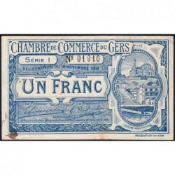 Auch (Gers) - Pirot 15-7 - 1 franc - Série I - 18/11/1914 - Etat : TTB