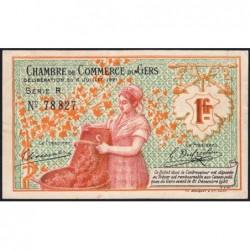 Auch (Gers) - Pirot 15-31 - 1 franc - Série R - 06/07/1921 - Etat : TTB+