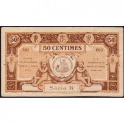 Aurillac (Cantal) - Pirot 16-1a - 50 centimes - Série B - 1915 - Etat : SUP