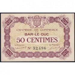 Bar-le-Duc - Pirot 19-1 - 50 centimes - Sans date (1915) - Etat : SUP+