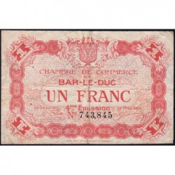 Bar-le-Duc - Pirot 19-15 - 1 franc - 4me émission (1920) - Etat : TB-