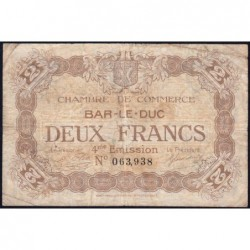 Bar-le-Duc - Pirot 19-17 - 2 francs - 4me émission (1920) - Etat : B+