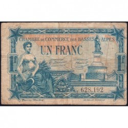 Basses-Alpes - Pirot 20-2 - 1 franc - 19/07/1917 - Etat : TB-
