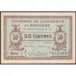 Bayonne - Pirot 21-1a - 50 centimes - Série I - 16/01/1915 - Etat : NEUF
