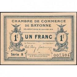 Bayonne - Pirot 21-9b - 1 franc - Série R - 16/01/1915 - Etat : SPL