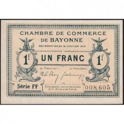 Bayonne - Pirot 21-13b - 1 franc - Série FF - 16/01/1915 - Etat : NEUF
