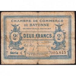Bayonne - Pirot 21-19a - 2 francs - Série C - 16/01/1915 - Etat : B-