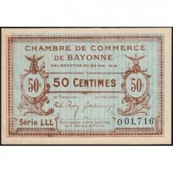 Bayonne - Pirot 21-24 - 50 centimes - Série LLL - 22/05/1916 - Etat : SUP+