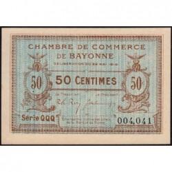 Bayonne - Pirot 21-24 - 50 centimes - Série QQQ - 22/05/1916 - Etat : SPL