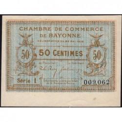 Bayonne - Pirot 21-26 - 50 centimes - Série l - 22/05/1916 - Etat : SPL