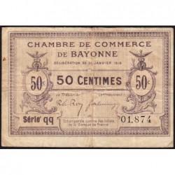 Bayonne - Pirot 21-55 - 50 centimes - Série qq - 30/01/1918 - Etat : TB+
