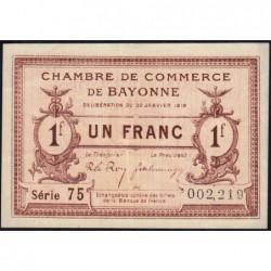 Bayonne - Pirot 21-59 - 1 franc - Série 75 - 30/01/1918 - Etat : TTB+