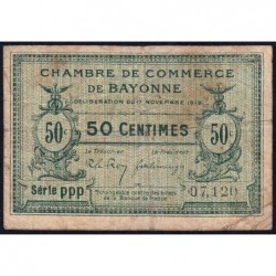 Bayonne - Pirot 21-61 - 50 centimes - Série ppp - 17/11/1919 - Etat : B+