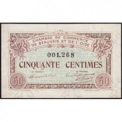 Beauvais - Pirot 22-1 - 50 centimes - 02/06/1920 - Etat : SPL
