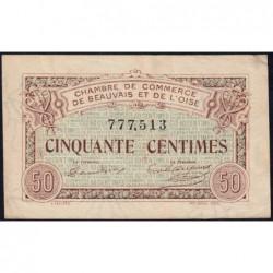 Beauvais - Pirot 22-1 - 50 centimes - 02/06/1920 - Etat : SUP