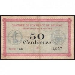 Belfort - Pirot 23-1 - 50 centimes - Série 146 - 18/08/1915 - Etat : B+