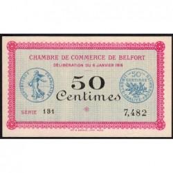 Belfort - Pirot 23-17 - 50 centimes - Série 131 - 06/01/1916 - Etat : SUP+