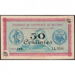 Belfort - Pirot 23-26 - 50 centimes - Série 134 - 28/07/1917 - Etat : SUP
