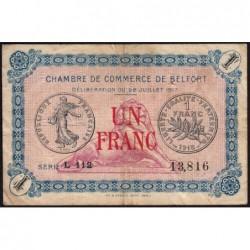Belfort - Pirot 23-29 - 1 franc - Série L 112 - 28/07/1917 - Etat : TB-