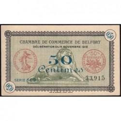 Belfort - Pirot 23-34a - 50 centimes - Série 109 - 04/11/1918 - Etat : SUP+
