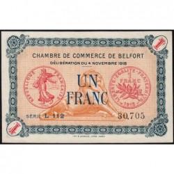 Belfort - Pirot 23-37 - 1 franc - Série L 112 - 04/11/1918 - Etat : SPL+
