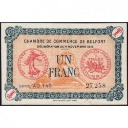 Belfort - Pirot 23-45 - 1 franc - Série AO 140 - 04/11/1918 - Etat : SPL
