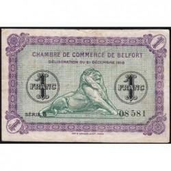 Belfort - Pirot 23-50 - 1 franc - Série 5 - 21/12/1918 - Etat : TB+