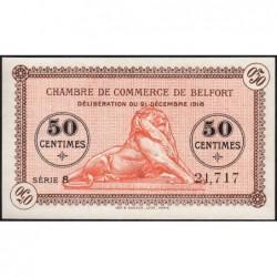 Belfort - Pirot 23-52a - 50 centimes - Série 8 - 21/12/1918 - Etat : NEUF