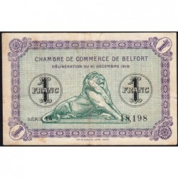 Belfort - Pirot 23-54 - 1 franc - Série 14 - 21/12/1918 - Etat : TTB-