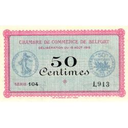 Belfort - Pirot 23-1 variété - 50 centimes - Série 104 - 18/08/1915 - Etat : SUP