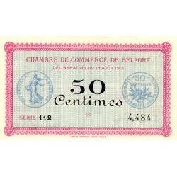 Belfort - Pirot 23-1 - 50 centimes - Série 112 - 18/08/1915 - Etat : SPL