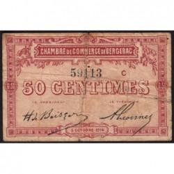 Bergerac - Pirot 24-8 - 50 centimes - Série C - 05/10/1914 - Etat : B+