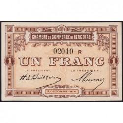 Bergerac - Pirot 24-16 - 1 franc - Série R - 05/10/1914 - Etat : pr.NEUF