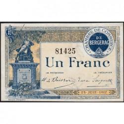 Bergerac - Pirot 24-27 - 1 franc - 15/06/1917 - Etat : SPL