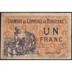 Bergerac - Pirot 24-40 - 1 franc - 10/09/1921 - Etat : B+