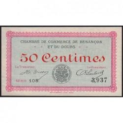 Besançon (Doubs) - Pirot 25-1 - 50 centimes - Série 108 - Sans date (1915) - Etat : SUP+