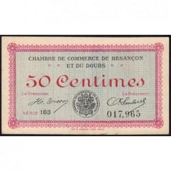 Besançon (Doubs) - Pirot 25-19 - 50 centimes - Série 163 - Sans date (1920) - Etat : TTB+