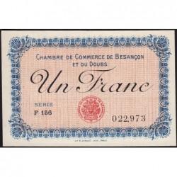 Besançon (Doubs) - Pirot 25-20 - 1 franc - Série F 156 - Sans date (1920) - Etat : pr.NEUF