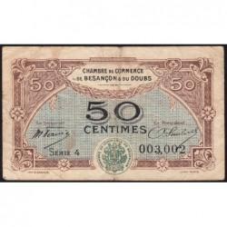 Besançon (Doubs) - Pirot 25-22 - 50 centimes - Série 4 - Sans date (1921) - Etat : B+