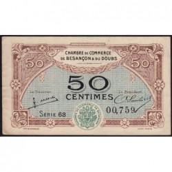 Besançon (Doubs) - Pirot 25-25 - 50 centimes - Série 63 - Sans date (1922) - Etat : SUP-