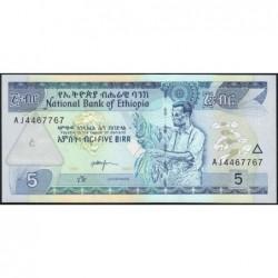 Ethiopie - Pick 47b - 5 birr - Série AJ - 2000 - Etat : NEUF
