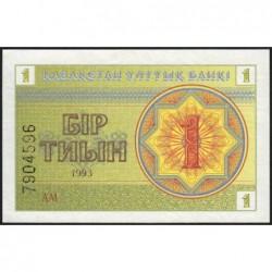 Kazakhstan - Pick 1c - 1 tiyn - 1993 - Etat : NEUF