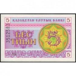 Kazakhstan - Pick 3b - 5 tiyn - 1993 - Etat : NEUF