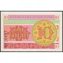 Kazakhstan - Pick 4a - 10 tiyn - 1993 - Etat : NEUF