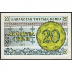 Kazakhstan - Pick 5a - 20 tiyn - 1993 - Etat : NEUF