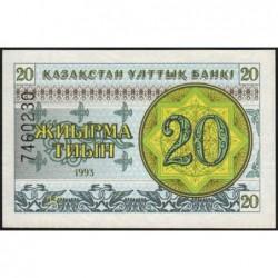 Kazakhstan - Pick 5b - 20 tiyn - 1993 - Etat : NEUF